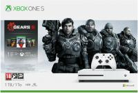 Игровая приставка Microsoft Xbox One S 1Tb с играми Gears 5 + Ultimate-издание Gears of War + Gears of War 2, 3 и 4